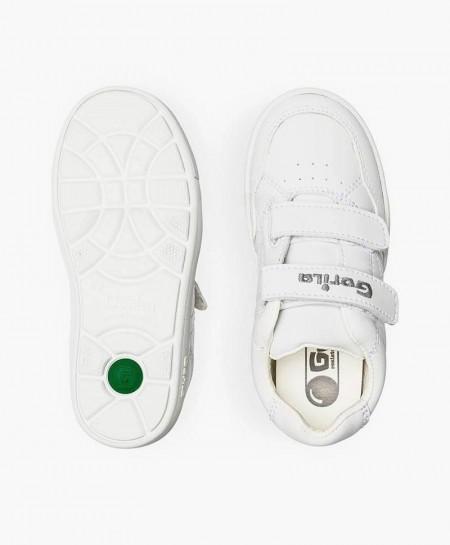 Zapatillas para el cole GORILA Blancas Piel Niña y Niño
