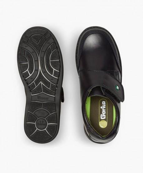 Zapatos Colegiales GORILA Azul Marino de Piel para Niño 4 en Kolekole
