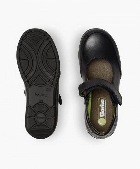 Zapatos Colegiales Merceditas GORILA Azul Piel Niña 0 en Kolekole