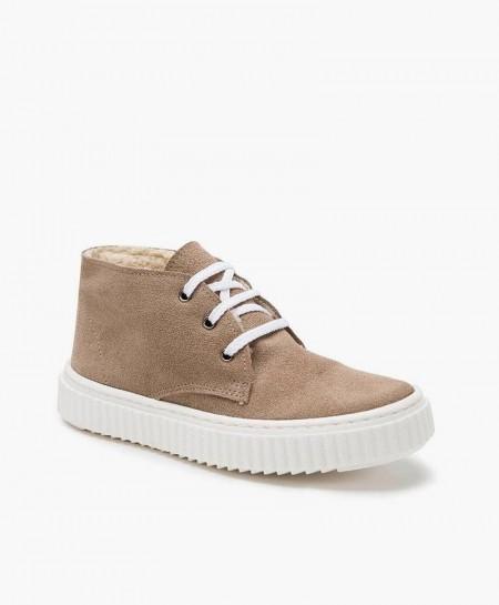 Zapatos ELI: Botín estilo Sport Taupe de Piel para Niño 0 en Kolekole