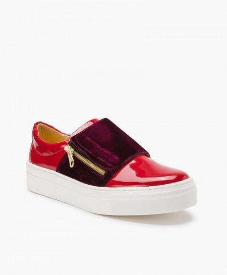 Zapatos Charol ELI Rojos estilo Deportivo de Piel para Niña