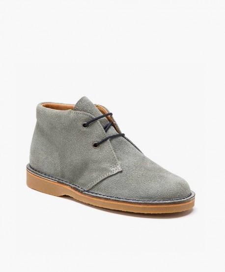 Zapatos ELI. Pisacacas Botines Safari Gris de Piel 0 en Kolekole