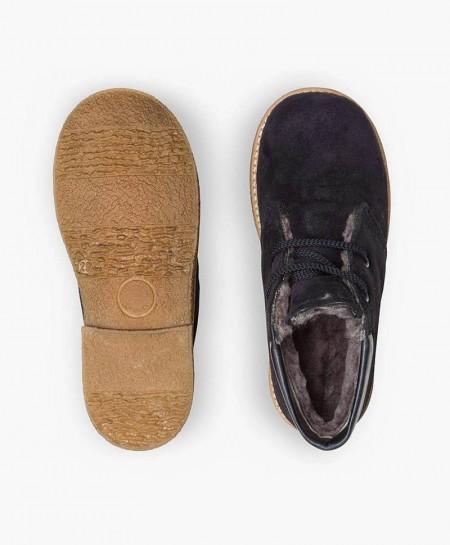 Zapatos ELI. Pisacacas Botines Azul de Piel para Niño 3 en Kolekole