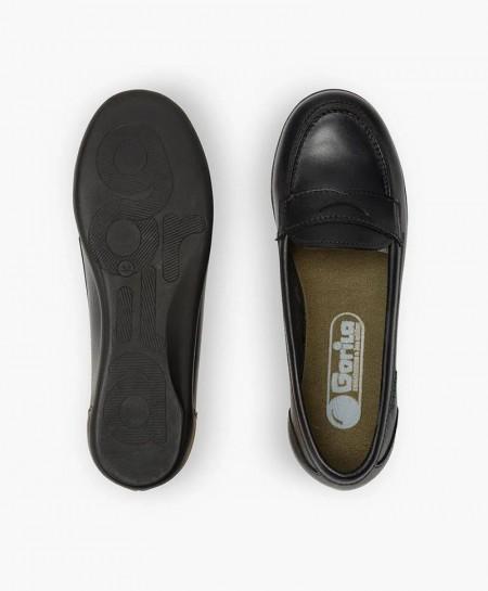 Zapatos Colegiales Mocasines GORILA Azul Piel Niña 0 en Kolekole