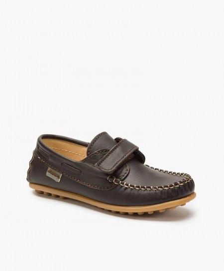 Zapatos Náuticos BEPPI Marrón de Piel para Niño