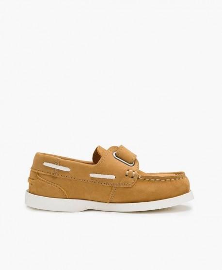 Zapatos Náuticos BEPPI Camel de Piel para Niño 3 en Kolekole
