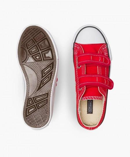 Zapatillas de Lona BEPPI Rojas Niña y Niño
