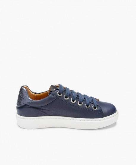 Sneakers MAÁ con Labios Azul Marino de Piel 3 en Kolekole