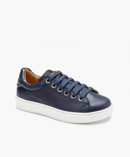 MAÁ Sneakers Labios Azul Marino Piel