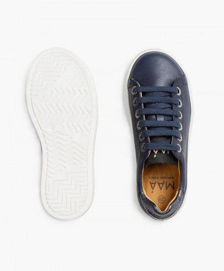 Sneakers MAÁ con Labios Azul Marino de Piel