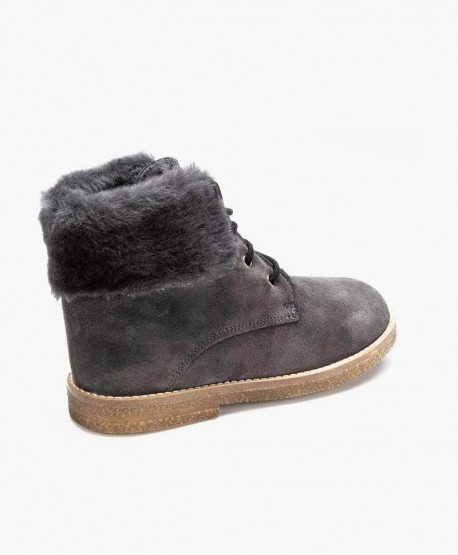Zapatos Botines ELI de Piel y Pelo Natural para Niño 3 en Kolekole