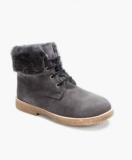 Zapatos ELI. Botines de Piel y Pelo Natural para Niño 0 en Kolekole
