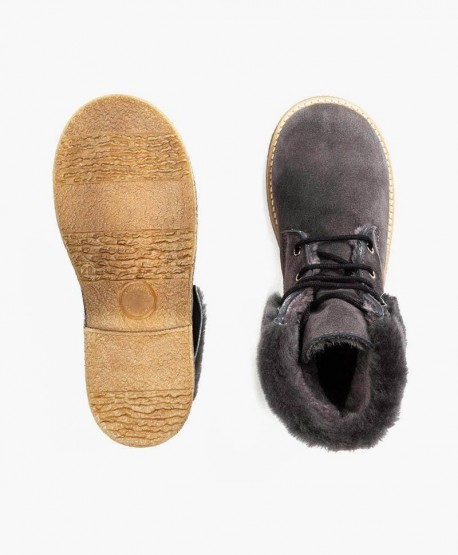 Zapatos Botines ELI de Piel y Pelo Natural para Niño 0 en Kolekole