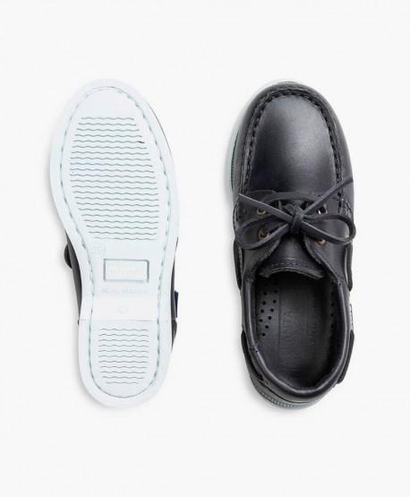 Zapatos Naúticos ATLANTA MOCASSIN Azul Marino de Piel para Niño en Kolekole