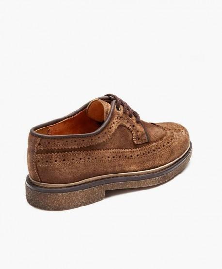 Zapatos ELI Blucher Clásico Marrón de Piel para Niño 1 en Kolekole