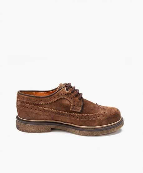 Zapatos ELI Blúcher Clásico Marrón Niño 3 en Kolekole