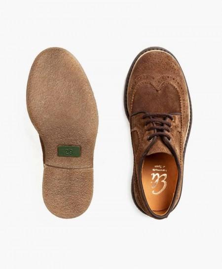 Zapatos ELI Blucher Clásico Marrón de Piel para Niño 3 en Kolekole