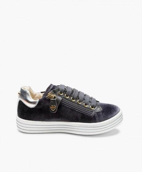 Sneakers TWIN-SET de Terciopelo en Piel y Corazón para Niña 3 en Kolekole
