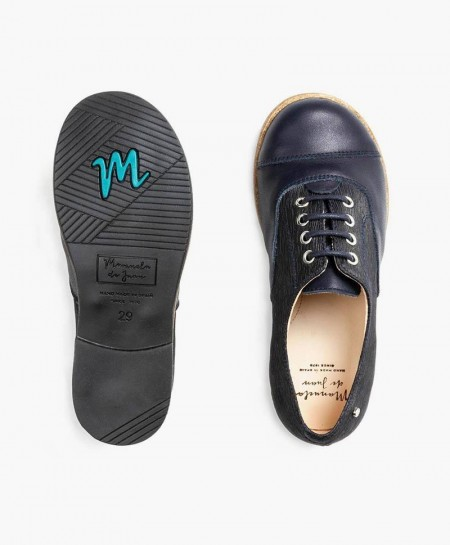Zapatos Inglés MANUELA DE JUAN Azul Marino para Niño 3 en Kolekole