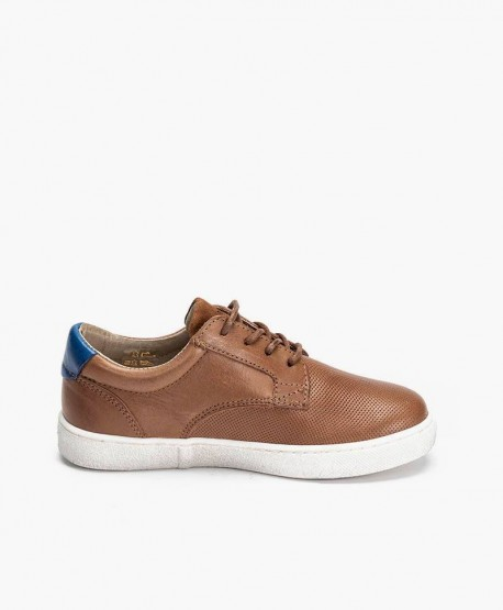 Zapatos Sneakers TELYOH Marrones de Piel para Niño 3 en Kolekole