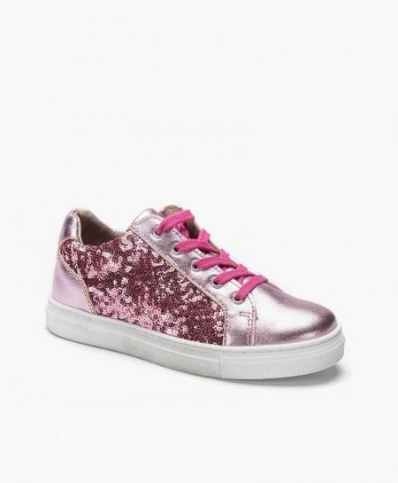 Sneakers TELYOH Rosa de Piel para Niña