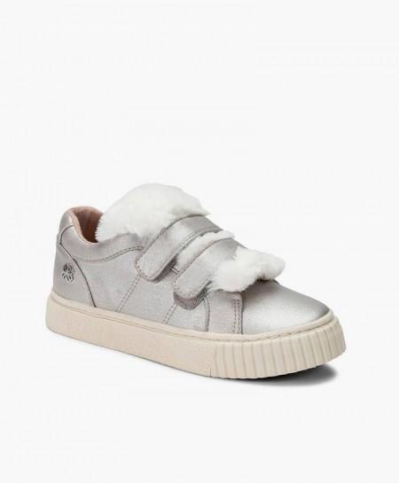 Mayoral Sneakers Plata Plataforma Niña