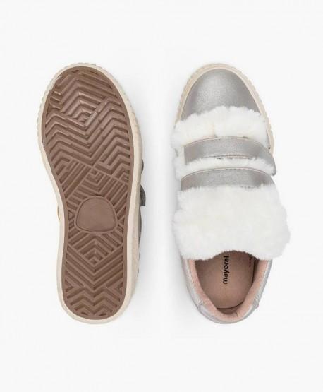 Mayoral Sneakers Plata Plataforma Niña en Kolekole