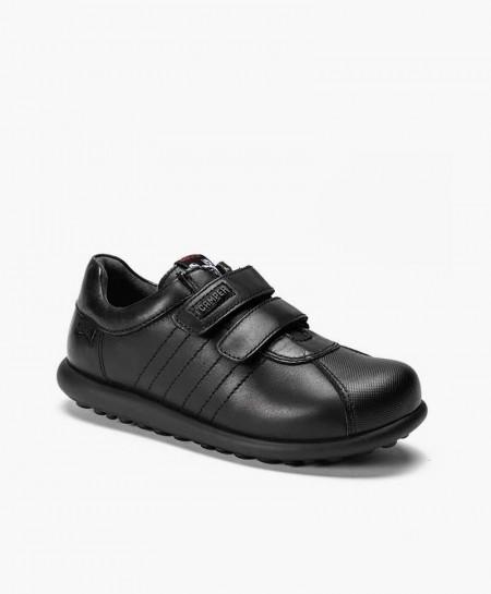 Camper Zapato Pelotas Negro Piel Niño