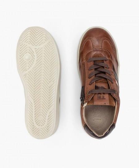 Sneakers TELYOH Marrones de Piel para Niño