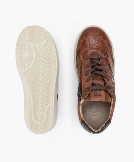Sneakers TELYOH Marrones de Piel para Niño 3 en Kolekole
