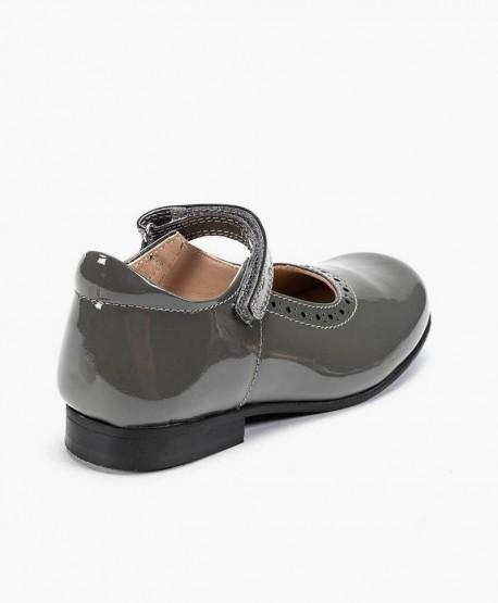 Zapatos de Charol PETASIL Gris de Piel para Niña 3 en Kolekole