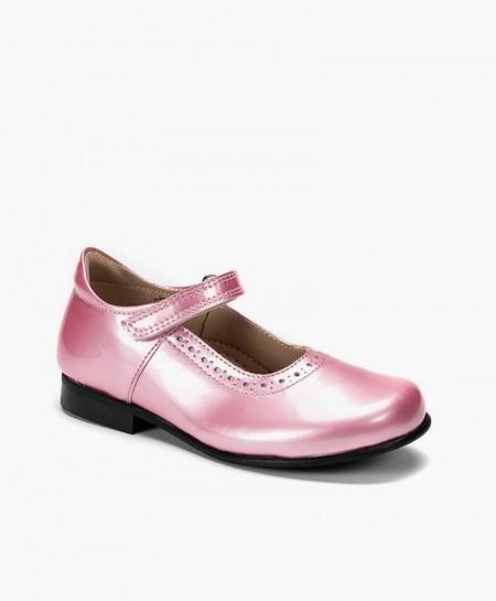 Petasil Zapato Charol Rosa Piel Niña