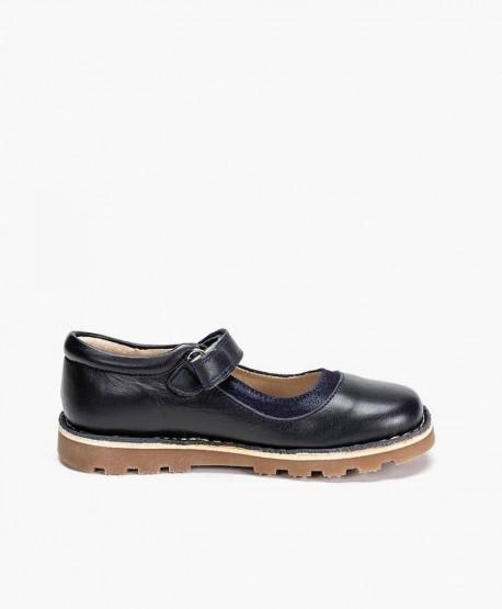 Zapatos Merceditas PETASIL Azul Marino de Piel para Niña 3 en Kolekole