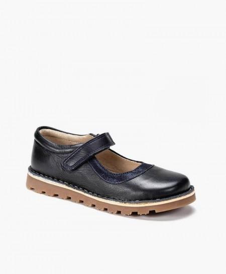 Zapatos Merceditas PETASIL Azul Marino de Piel para Niña