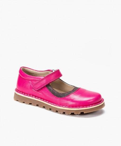 Zapatos Merceditas PETASIL Fucsia de Piel para Niña 0 en Kolekole