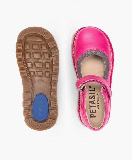 Zapatos Merceditas PETASIL Fucsia de Piel para Niña 3 en Kolekole