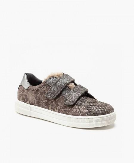 Naturino Sneaker Velcro Piel Niña en Kolekole