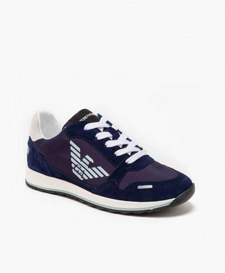 Emporio Armani Sneaker Azul Marino Piel
