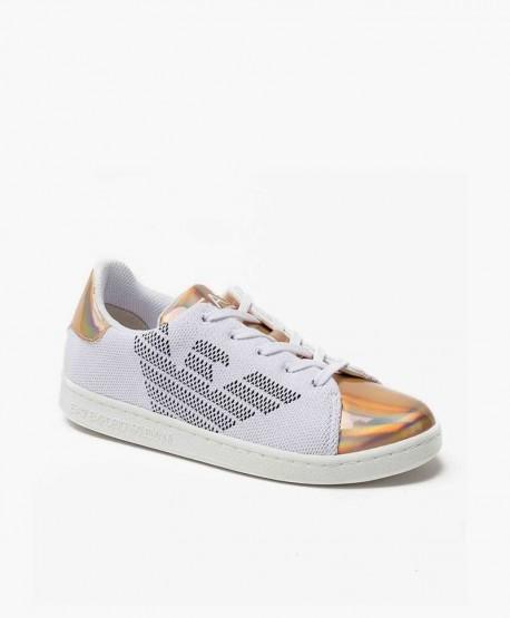 Emporio Armani EA7 Sneaker Blanco Rosa Palo Chica en Kolekole