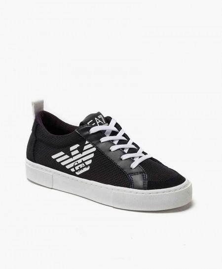 Sneakers EMPORIO ARMANI Azul Marino de Piel para Chicos
