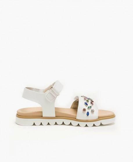 Sandalias TWINSET Blancas de Piel para Chica y Mujer 3 en Kolekole