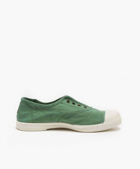 Zapatillas Eco NATURAL WORLD Lona Verde Chica y Chico 3 en Kolekole