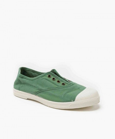 Zapatillas NATURAL WORLD Inglés Lona Verde Chicos