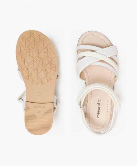 Sandalias Blancas MAYORAL Laminadas para Niña