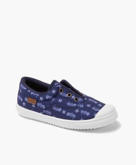Zapatillas PETALOUS Azul con Caballitos de Mar para Niños 0 en Kolekole