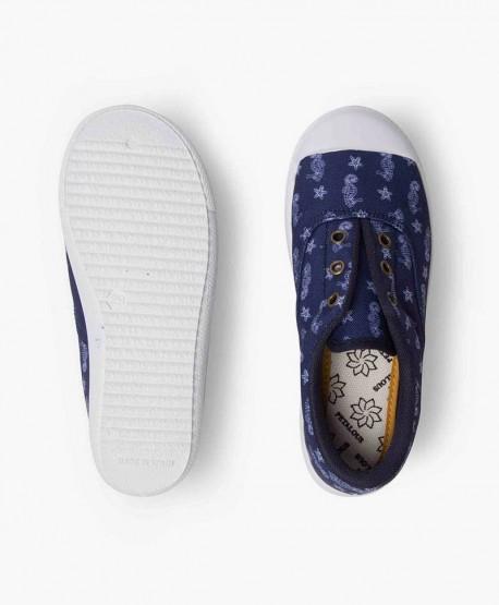 Zapatillas PETALOUS Azul con Caballitos de Mar para Niños 3 en Kolekole