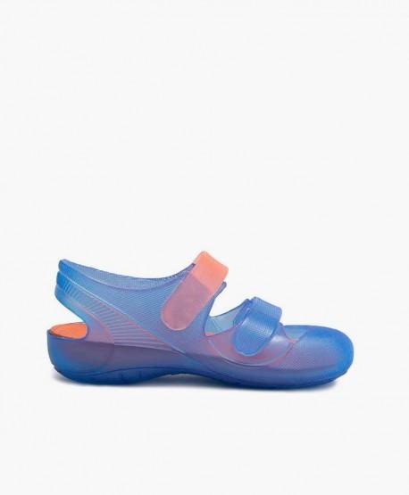 Sandalias Cangrejeras IGOR Bondi Azul Naranja Niña y Niño 3 en Kolekole