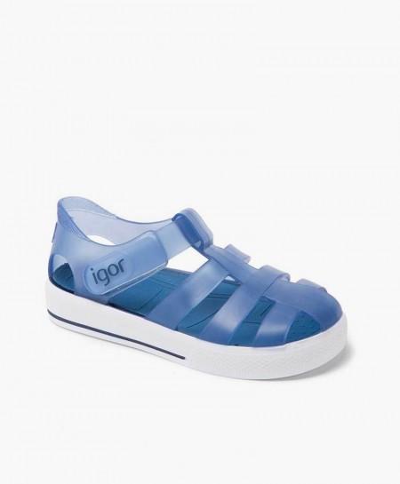 Igor Sandalia Cangrejera Sport Azul Velcro