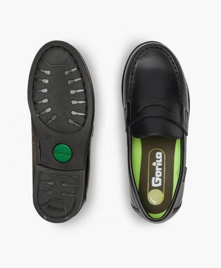 Zapatos Mocasines Colegiales GORILA Azul Piel Chico 0 en Kolekole