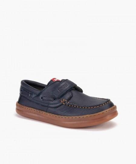 Zapatos Casual CAMPER Azul Marino con Velcro para Niño